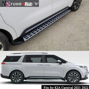 2Pcs Fits for KIA Carnival 2021 2022 Fixed Door Side Step Running Board Nerf Bar