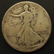 1917 S Circulated Walking Liberty Half Dollar Coin