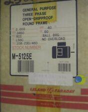 Leland Faraday Motor M-5125E 2 HP 3450 RPM 208-230/ 460 Volt RCC L56C