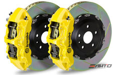 Brembo Front GT Big Brake 6P Caliper Yellow 380x34 Slot Rotor Benz C63 AMG W204