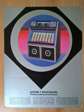 Rowe Ami Sapphire R-87 Phonograph Vinyl Jukebox Sales Brochure / Flyer /Pamphlet