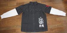 schwarz weißes H&M YOUNG Hemd Nadelstreifen Gr 158 Langarm Shirt