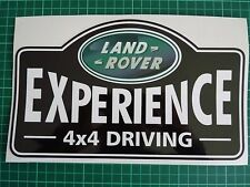 LAND ROVER Experience 4x4 Driving Aftermarket Door DECAL Sticker SET 250x150mm