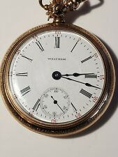 Works, has not been cleaned 1900's Waltham Pocket Watch, 21 Jewels,