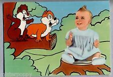 WALT DISNEY Cip & Ciop con Bambina PC Originale ITALY 1961