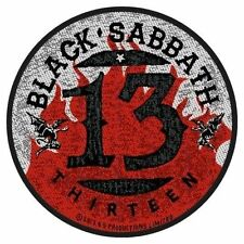 BLACK Sabbath-Patch ricamate - 13 Flames Circular 9x9cm