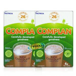 2x Complan Chocolate Nutrition Vitamin Protein Supplement Energy Drink 4x55g