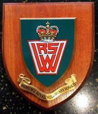 More details for vintage old carved wood wrvs womens royal voluntary service plaque crest shield