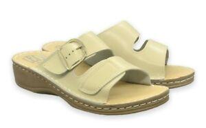 Leder Anatomische Schuhe.Sandalen.Artz/ Haus Schuhe. Gr 36,41.  Art. 621 Beige