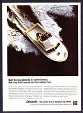 "1968 Owens Concorde 27 Sportfisherman Boat photo ""Start Catchin' Fish"" print ad"