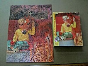 Vintage TUCO Jigsaw Puzzle # 5981 / 350 to 400 Pieces / Girl & Pony Horse