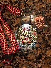 Disney Halloween 2017 Mickey's Web ANIMATED Lanyard NEW