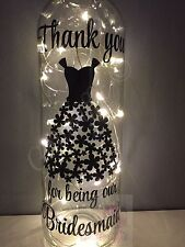 THANK YOU FOR BEING OUR BRIDESMAID DIY WINE BOTTLE VINYL  STICKER WEDDING GIFT
