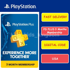 Sony PlayStation PSN PS Plus 3 Months / 90 Days Membership Subscription