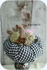 Handmade Luxurious Pumpkin,  black and white color, Shabby chic