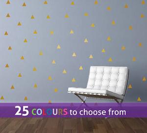 120 pack TRIANGLE shape wall stickers decals medium large confetti salon nursery
