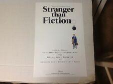 Oop rare Lp cd Promo Poster 17x11appx Stranger Than Fiction music soundtrack