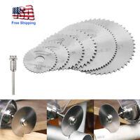 7pcs/set HSS Circular Saw Blade Wood Metal Plastic Cutting Disc for Rotary Tools