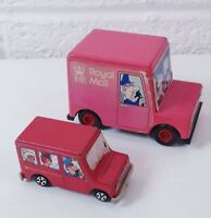 X2 Vintage Postman Pat Toy Van ERTL BBC 1980s 1990s retro Collectable