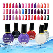 1x Fashion Colorful Non-toxic Stamping Nail Polish Art DIY Manicure Varnish 10ml