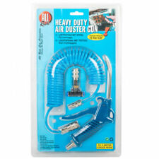 BLUE HEAVY DUTY JET AIR COILED LINE BLOW DUSTER KIT FOR COMPRESSORS HOSE AND GUN