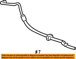 FORD OEM-Power Steering Pressure Hose 3F2Z3A719AA