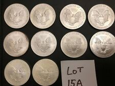 Set of 10 American Silver Eagle Coins 2004-2013 15A 1/2 roll  Lot