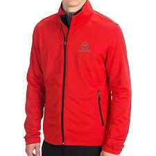 Men's Rossignol Clim Fleece Full Zip Soft shell  Jacket Red Size L .NWT.
