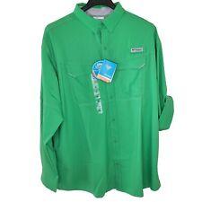 Columbia PFG Low Drag LS Vented Offshore UPF Fishing Shirt Men SZ XXL