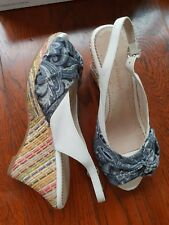 BLUE ILLUSION WOMEN'S WEDGED HEELS SLINGBACK OPEN-TOE FASHION SHOES SIZE 7, 38