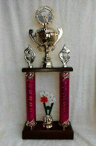 Pokal Skat Poker Säulenpokal Wanderpokal gold violett 53 cm  Top personalisiert