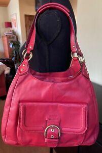 Gorgeous Coach Campbell  RED Leather Hobo Shoulder Handbag F24686 MSRP $418