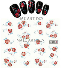 20 NAIL STICKERS WATER TRANSFER TATTOO ADESIVO FIORI