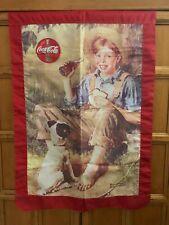 Coca-Cola Banner Old-fashioned Boy & Dog Large flag Banner