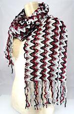 NWT $42 CHARTER CLUB CHENILLE KNIT FRINGE TRIM LONG SCARF Womens NECK WRAP 11x64