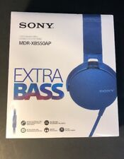 Sony Extra Bass Stereo Headphone MDR-XB550AP [ BLUE Edition ] NEW