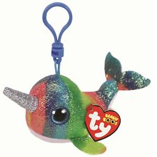 Ty Beanie Babies 36560 Boos Nori the Narwhal Boo Key Clip