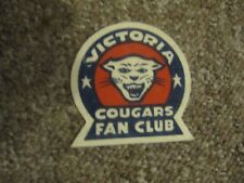 1950's Victoria Cougars PCHL WHL Fan Club Crest (Patch).  VERY RARE
