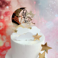 Supplies Moon Star Cupcake Toppers Acrylic Cake Decor Dream Big Little One