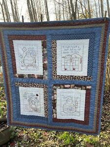 Sweet Hand Quilted Cat Quilt/Wall Hanging