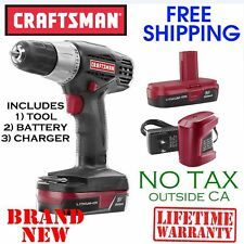 CRAFTSMAN C3 19.2V Volt 3/8 Inch Cordless DRILL DRIVER Kit w Lithium Ion Battery