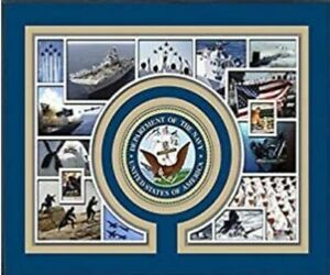 """United States Navy Custom Matted Photo Collage (Size: 11"""" x 14"""") Matted"""