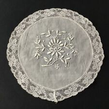 Napperon ANCIEN Broderie Dentelle Antique French Lace Doily Embroidery Handmade