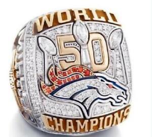 2015 - 2016 Denver Broncos 50 world Championship Ring //-
