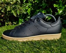 BNWB & Orig Adidas Originals Stan Smith ® Neri In Pelle Sneaker UK 8