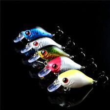 5pcs Wobblers Bass Hard Plastic Bait Fishing Lure 6cm 8.3g Crankbaits