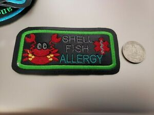 Shell Fish Allergy Patch, Patches for Vests / Harness