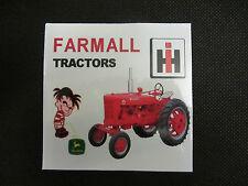 FARMALL TRACTORS Bumper Sticker/Decal