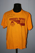 Minnesota Gophers TCF Bank Stadium 2009 Tee Shirt XL Joel Monroe Auto