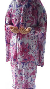 Muslim Women Abaya Jilbab Islamic Prayer Dress Set Long Hijab Arab Maxi Clothing